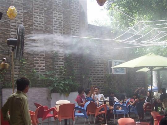 lắp đặt máy phun sương quán cafe tại kiên giang